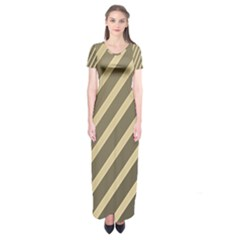 Golden elegant lines Short Sleeve Maxi Dress