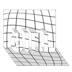 Simple lines GIRL 3D Greeting Card (7x5)