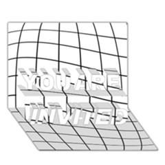 Simple lines YOU ARE INVITED 3D Greeting Card (7x5)