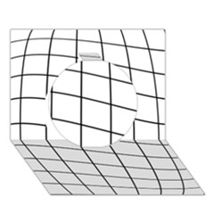 Simple lines Circle 3D Greeting Card (7x5)