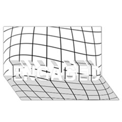 Simple lines ENGAGED 3D Greeting Card (8x4)