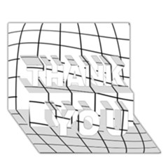 Simple lines THANK YOU 3D Greeting Card (7x5)
