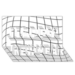 Simple lines Happy New Year 3D Greeting Card (8x4)