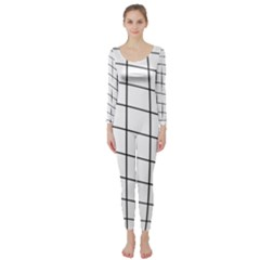 Simple lines Long Sleeve Catsuit