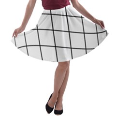Simple lines A-line Skater Skirt
