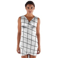 Simple Lines Wrap Front Bodycon Dress