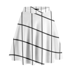 Simple Lines High Waist Skirt