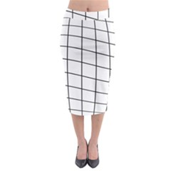 Simple Lines Midi Pencil Skirt
