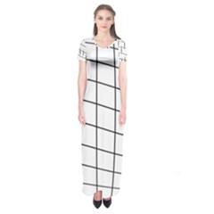 Simple Lines Short Sleeve Maxi Dress