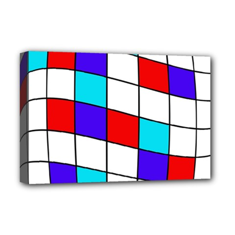 Colorful cubes  Deluxe Canvas 18  x 12