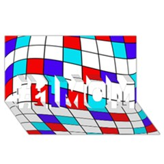 Colorful cubes  #1 MOM 3D Greeting Cards (8x4)