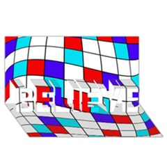 Colorful cubes  BELIEVE 3D Greeting Card (8x4)