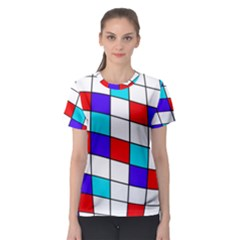 Colorful cubes  Women s Sport Mesh Tee