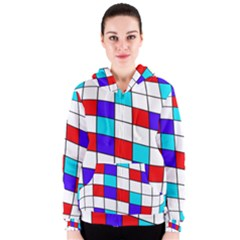 Colorful cubes  Women s Zipper Hoodie