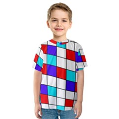 Colorful cubes  Kid s Sport Mesh Tee