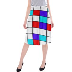 Colorful cubes  Midi Beach Skirt