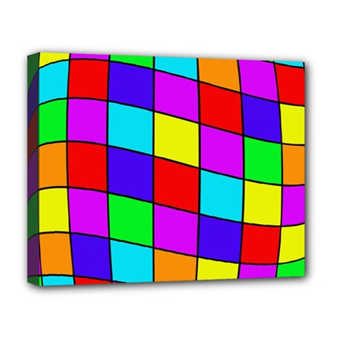 Colorful cubes Deluxe Canvas 20  x 16