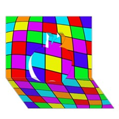 Colorful cubes Apple 3D Greeting Card (7x5)