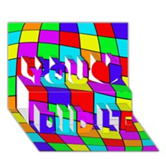 Colorful Cubes You Did It 3d Greeting Card (7x5)