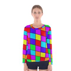 Colorful cubes Women s Long Sleeve Tee