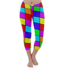 Colorful cubes Capri Winter Leggings