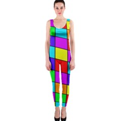 Colorful cubes OnePiece Catsuit