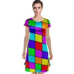 Colorful cubes Cap Sleeve Nightdress