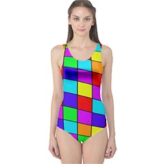 Colorful cubes One Piece Swimsuit