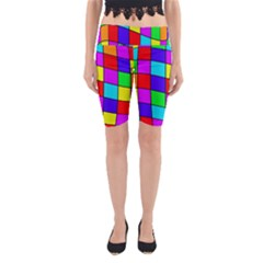 Colorful cubes Yoga Cropped Leggings