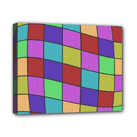 Colorful cubes  Canvas 10  x 8