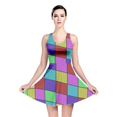 Colorful cubes  Reversible Skater Dress