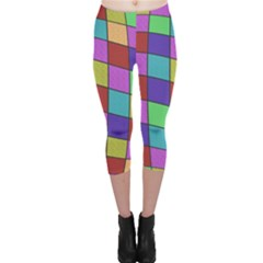 Colorful cubes  Capri Leggings