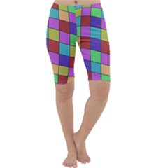 Colorful cubes  Cropped Leggings