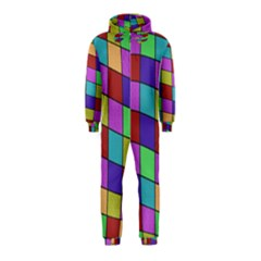 Colorful cubes  Hooded Jumpsuit (Kids)