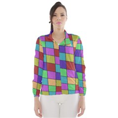 Colorful cubes  Wind Breaker (Women)