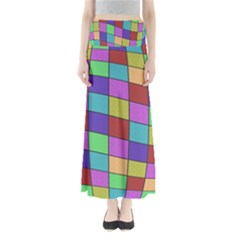 Colorful cubes  Maxi Skirts