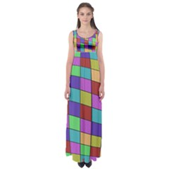 Colorful cubes  Empire Waist Maxi Dress