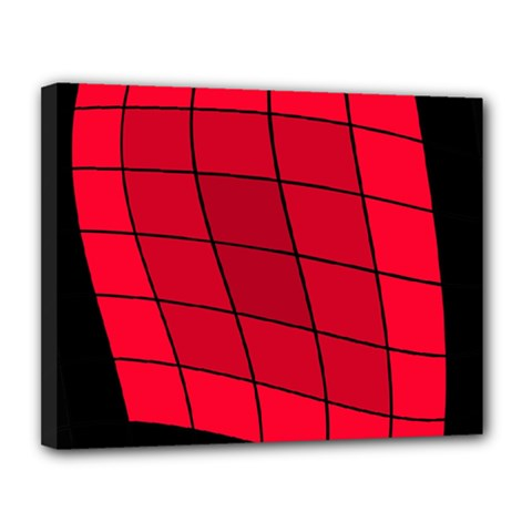 Red abstraction Canvas 14  x 11