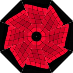 Red abstraction Folding Umbrellas