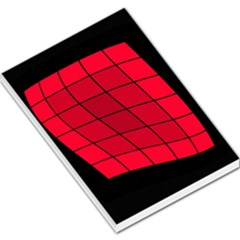 Red abstraction Large Memo Pads