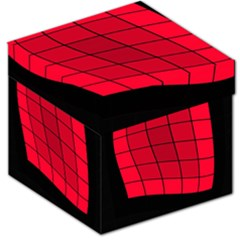 Red abstraction Storage Stool 12