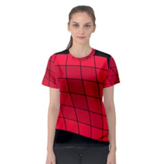 Red abstraction Women s Sport Mesh Tee