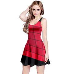 Red abstraction Reversible Sleeveless Dress