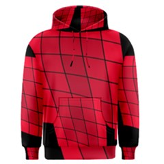 Red abstraction Men s Pullover Hoodie