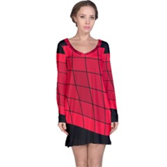 Red abstraction Long Sleeve Nightdress