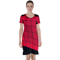 Red abstraction Short Sleeve Nightdress