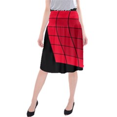 Red abstraction Midi Beach Skirt
