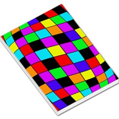 Colorful cubes  Large Memo Pads