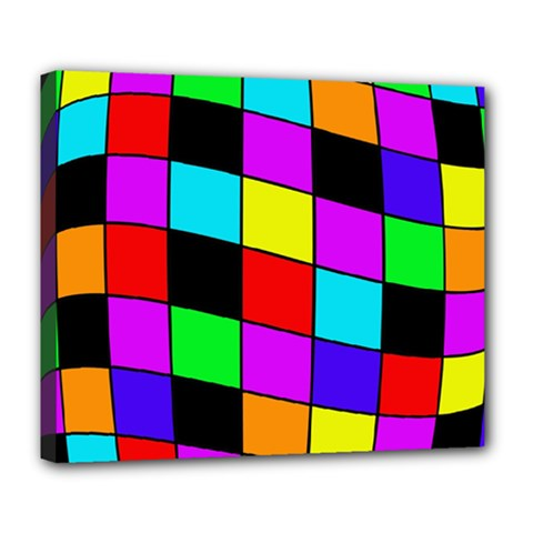 Colorful cubes  Deluxe Canvas 24  x 20