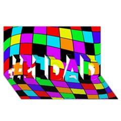 Colorful cubes  #1 DAD 3D Greeting Card (8x4)
